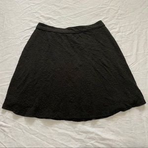 Hollister Black Embroidered Mini Skirt